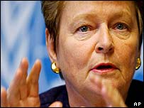 Director General of the World Health Organization (WHO) Gro Harlem Brundtland