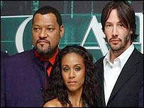Lawrence Fishburne, Jada Pinkett Smith and Keanu Reeves