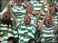 Celtic supporters at the match