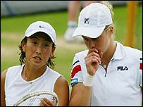 Ai Sugiyama and Kim Clijsters