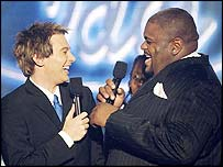 Clay Aiken (left) and Ruben Studdard