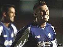 Falkirk striker Lee Miller
