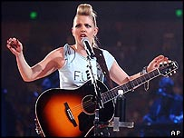 Natalie Maines of the Dixie Chicks in Austin, Texas