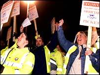 trade union protestors