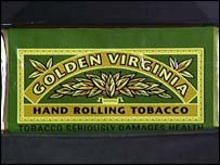 Golden Virginia rolling tobacco