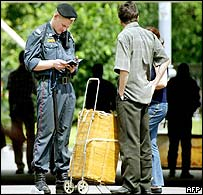 Police checking documents