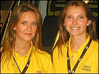 Agnes Carlier (left) with a colleague
