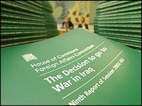 Foreign Affairs Committee report: The Decision to go to War in Iraq
