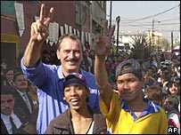 Mexican President Fox with street children