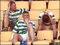 Celtic fans despair after Uefa Cup final defeat