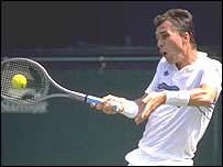 Ivan Lendl in action in 1988