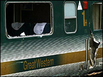 First Great Western Train involved in the crash