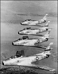 US Air Force F-86 fighter jets