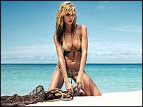 Heidi Klum in one of the swimwear advertisements