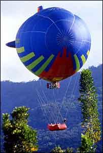 Balloon over trees   Laurent Pyot