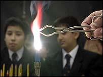 bunsen burner in classroom
