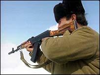 Азербайджанский солдат в Карабахе, 1992 год