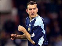 Glenn Little in action for Burnley