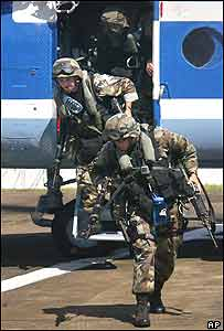 US assessment forces arrive in Liberia