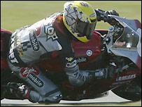 Steve Hislop on his Yamaha