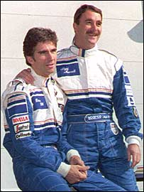 Damon Hill and Nigel Mansell in 1994
