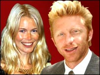 Claudia Schiffer and Boris Becker
