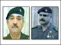 Mizban Khadr Hadi [left] and Mahmud Dhiyab al-Ahmad as depicted on their most wanted cards [picture from Centcom website]