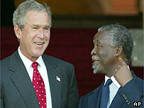 Presidents Bush and Mbeki