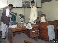 The ransacked embassy in Kabul