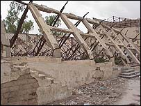 Destroyed building in Hargeisa