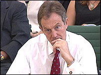 Tony Blair during Tuesday's questions session