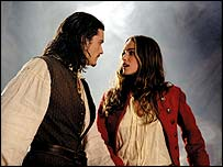 Johnny Depp and Keira Knightley