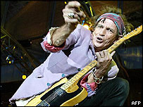 Keith Richards on stage in Marseilles, 5 July