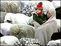 Women praying in Iran