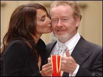 Ridley Scott and girlfriend Giannina Fascio