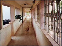 Corridor in Goa's Institute of Psychiatry and Human Behaviour
