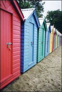 Beach huts at Llanbedrog, north Wales