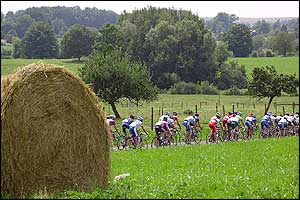 The riders enter the countryside