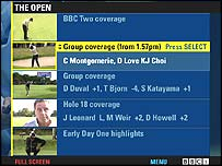 BBCi's Open golf service