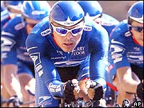 Pena helped the US Postal team to a stage win