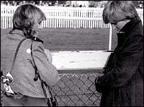 Camilla parker Bowles and Lady Diana Spencer in 1980