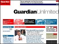 Guardian Unlimited webpage
