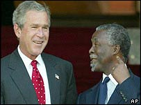 Presidents Bush and Mbeki