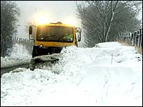 Snowplough (at work in England)