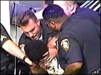 Donovan Jackson being arrested by Jeremy Morse