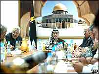 Palestinian cabinet meeting in Ramallah