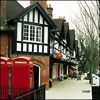 Bournville village in Birmingham