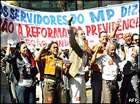 Protestors in Brasilia