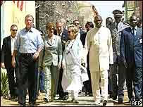 President Bush on Goree Island