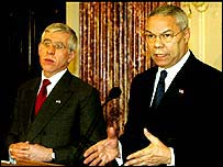Jack Straw and Colin Powell